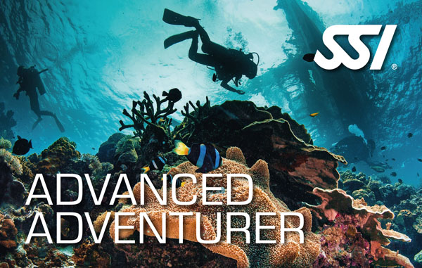 Advanced Adventurer: brevetto avanzato per immergerti fino a 30 metri (Analogo all'Advanced PADI)